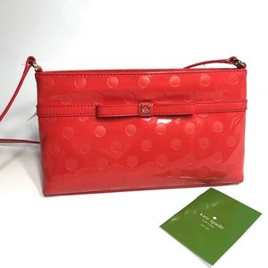 Kate spade Cross body Purse Bag Red Polka dot NWT